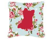 Chihuahua Shabby Chic Blue Roses   Canvas Fabric Decorative Pillow BB1115 9SIA5XC3PP1653