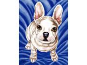 Diamond in Blue French Bulldog Flag Garden Size AMB1351GF
