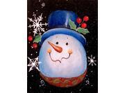 Top Hat Greetings Snowman Flag Canvas House Size PJC1023CHF