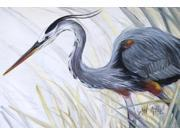 Blue Heron Frog hunting Fabric Placemat JMK1017PLMT