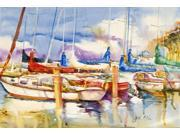 End Stall Sailboats Fabric Placemat JMK1049PLMT