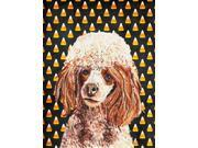 Red Miniature Poodle Candy Corn Halloween Flag Canvas House Size SC9651CHF 9SIA5XC3MY5416
