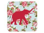 Set of 4 Elephant Shabby Chic Blue Roses Foam Coasters 9SIA5XC1YX2760