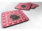 Set of 4 French Bulldog Foam Coasters