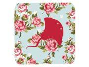 Set of 4 Stingray Shabby Chic Blue Roses Foam Coasters