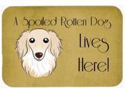 Longhair Creme Dachshund Spoiled Dog Lives Here Kitchen or Bath Mat 24x36 BB1460JCMT