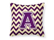 Letter A Chevron Purple and Gold Fabric Decorative Pillow CJ1058-APW1414 9SIA00Y6J00542