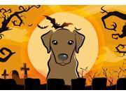 Halloween Chocolate Labrador Fabric Placemat BB1792PLMT