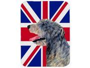 Irish Wolfhound with English Union Jack British Flag Mouse Pad, Hot Pad or Trivet SS4948MP