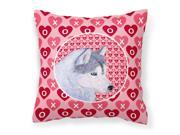 Siberian Husky Hearts Love Valentine's Day Fabric Decorative Pillow SS4464PW1414 9SIA00Y7GE9578