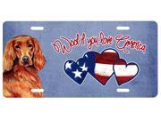 Woof if you love America Irish Setter License Plate LH9515LP