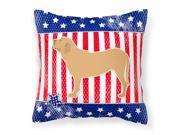 USA Patriotic Fila Brasileiro Fabric Decorative Pillow BB3379PW1414
