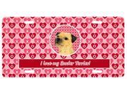 Carolines Treasures LH9143LP 12 x 6 in. Border Terrier Valentines Love and Hearts License Plate