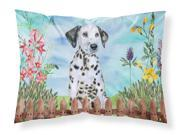 Dalmatian Puppy Spring Fabric Standard Pillowcase CK1270PILLOWCASE