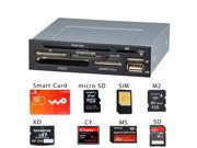 Pc 3.5 Inch Multi Micro Sim Smart Card Reader Support Sim /Banking Card/ Social Security Card /Sd/ms/cf/xd/md/m2 Sdxc/tf/micro Sd