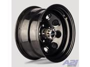 "Vision Soft 8 16"" Black Steel Wheel 16x8 8x6.5 8 Lug -6mm Chevy GMC Dodge"