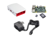 Raspberry Pi 2 Deluxe Bundle Raspberry Pi 2 SanDisk Ultra Class 10 MicroSD Card with NOOBS Official Raspberry Pi Case 5.1V 2A MicroUSB PSU