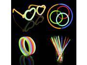 100PCS Halloween Props Christmas Celebration Festivity Ceremony Flashing Stick Fluorescent Bracelets,Glow sticks For Party