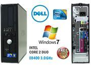 Dell 780 SFF Desktop PC - Core 2 Duo 3.0GHz Intel E8400 - 8GB RAM - 500GB Hard Drive - DVD RW Drive – DVD Burner - Windows 7 Professional