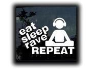 Eat Sleep Rave Repeat Decal 5.5 inch
