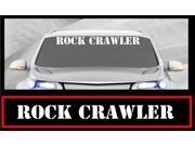Rock Crawler Windshield Banner Decal