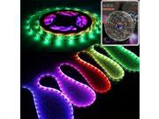 16.4ft (5m) Dreamy RGB Color Chasing LED Strip Light Kit: Waterproof Flexible Chasing LED Light Strip + RGB Controller + 24-key IR Remote + UL-listed Power Adapter - 5050SMD 150LEDs/pc