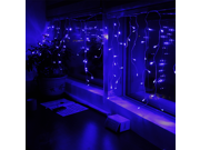 11ft 120LEDs Extendable Blue LED Icicle Lights - 8 Work Modes Icicle Christmas Lights for Xmas, Holiday, Wedding, Party, Event Decorative Lighting