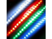 Super Bright 1ft (30cm) RGB Waterproof Flexible LED Strip Lights - 5050 SMD 18LEDs/pc - Waterproof IP-65