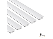 5 PACK 1M/3.3ft Shallow Flush Mount Aluminum Channel U-Shape LED Aluminum Extrusion for flex/hard LED Strip Light w/Oyster White cover-U03