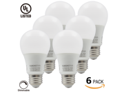 6-Pack 110V 9W Dimmable A19 LED Bulb - 60W Equivalent UL-listed Warm White LED A19 Light Bulb - 850lm E26/E27 Base A19 Bulb for Home, Residential, Commercial, General Lighting