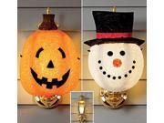 Holiday Light Covers-Pumpkin
