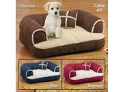 Comfy Pet Bed Couch with Pillow BURGUNDY