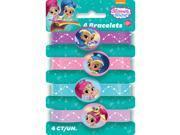 Shimmer & Shine Rubber Bracelets (4 Pack) 9SIA61Y5US5163