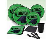 Green Congrats Grad Party Pack For 18 9SIA61Y5WG1113