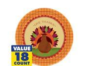 Thanksgiving Dinner Dessert Plates 18ct