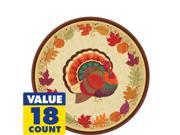Thanksgiving Holiday Dessert Plates 18ct