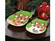 Holiday Hoot Ceramic Owl Platter 9SIA61Y6632729