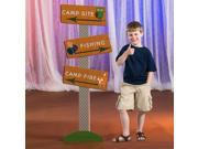 5 ft. 8 in. Happy Campers Directional Sign 9SIA61Y66H6770