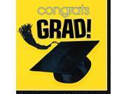 Yellow Congrats Grad Luncheon Napkins 9SIA61Y6CN1459