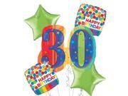 30th Birthday Balloon Bouquet 5pc - A Year to Celebrate 9SIA61Y6FB2661