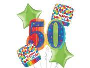 50th Birthday Balloon Bouquet 5pc - A Year to Celebrate 9SIA61Y6FC8989