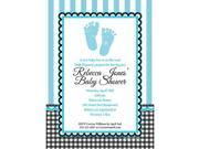 SWEET BABY FEET BLUE PERSONALIZED INVITATION (EACH) 9SIA61Y81Y2162