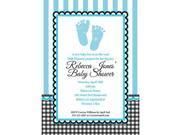 SWEET BABY FEET BLUE PERSONALIZED INVITATION (EACH) 9SIA61Y81Y2162