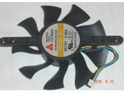 YD128015EL Video Card Fan With 12V 0.46A Diameter 75mm 3-Wires For GTS250 HD4870