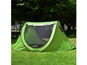 Outdoor Pop Up Camping Hiking Tent Automatic Setup Easy Fold Back GJ031A(Green)