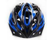 Outdoor Adult Safety Road/Mountain Bike Helmet Ultralight Ventilation 18-Hole Design With Cap Peak Blue+Black 9SIA62J3ZM4004
