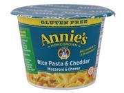 ANNIES HOMEGROWN, PASTA CUP RICE & CHDR GF, 2.01 OZ, (Pack of 12) 9SIA62V4068153