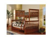 Twin Full Bunk Bed Esprit Walnut Finish