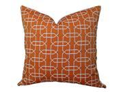 Plutus Ardmore Persimmon Handmade Throw Pillow, (Double sided  24