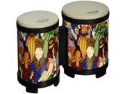 Remo RHYTHM CLUB  Bongos  5 and 6 Diameters  Rhythm Kids Graphics 9SIA62V4AJ5898